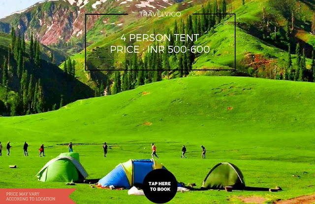4 Person tent for rent in Shimla