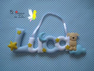 nombre-decoración-infantil-fieltro-elbosquedelulu-hechoamanoparati-regalo-nacimiento-felt-name-banner