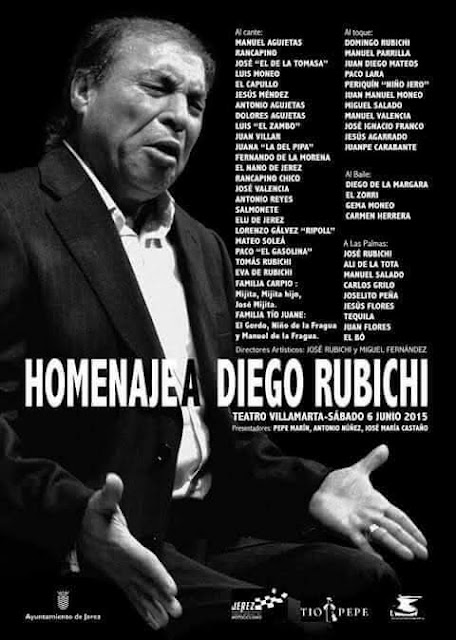 Homenaje a Diego Rubichi donde no faltó nadie del Jerez Flamenco