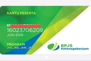Contoh Kartu Peserta BPJS Ketenagakerjaan/Jamsostek
