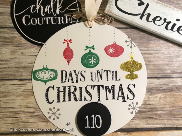 Days Till Christmas Chalkboard.Days Until Christmas