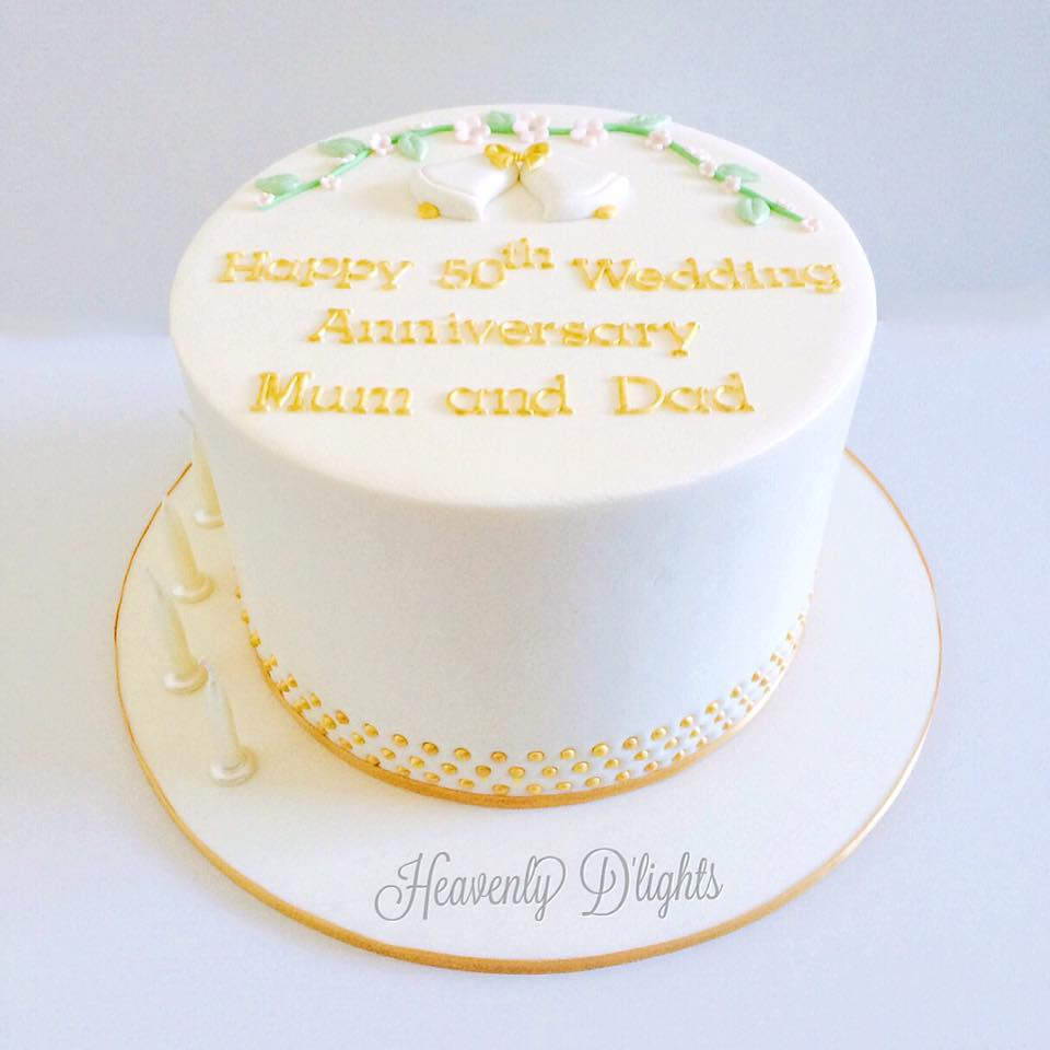 Heavenly D\'lights: 50th Wedding Anniversary Cake