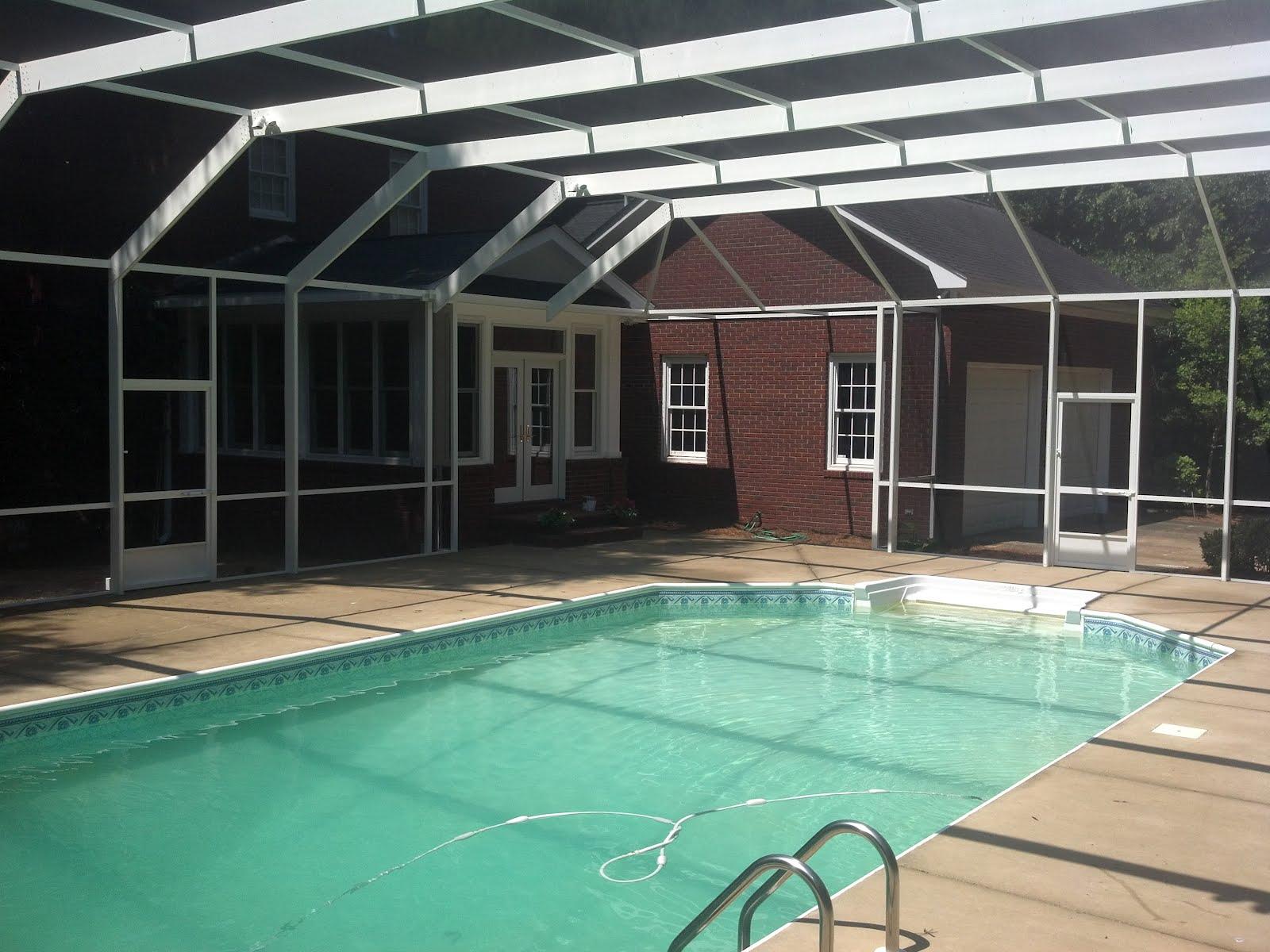 Pool enclosures usa georgia pool enclosure - Swimming pool screen enclosures cost ...