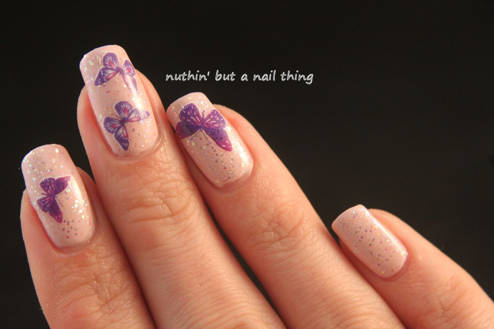 nail art design idea butterfly water decal