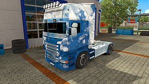 Sky and Clouds skin for Scania RJL by EviL