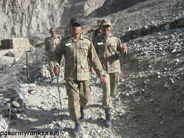 Pakistan army officers pic during operation