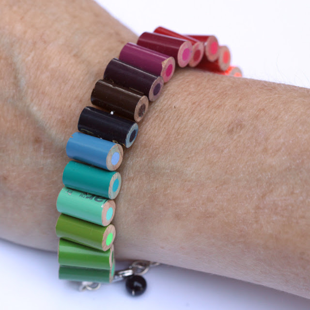 eco-friendly jewelry from colored pencil