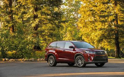 2017 toyota highlander red widescreen resolution hd wallpaper