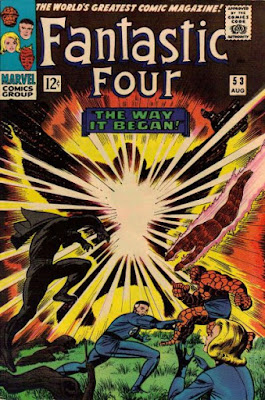 Fantastic Four #53, the FF recoil before the power of Klaw in his origin