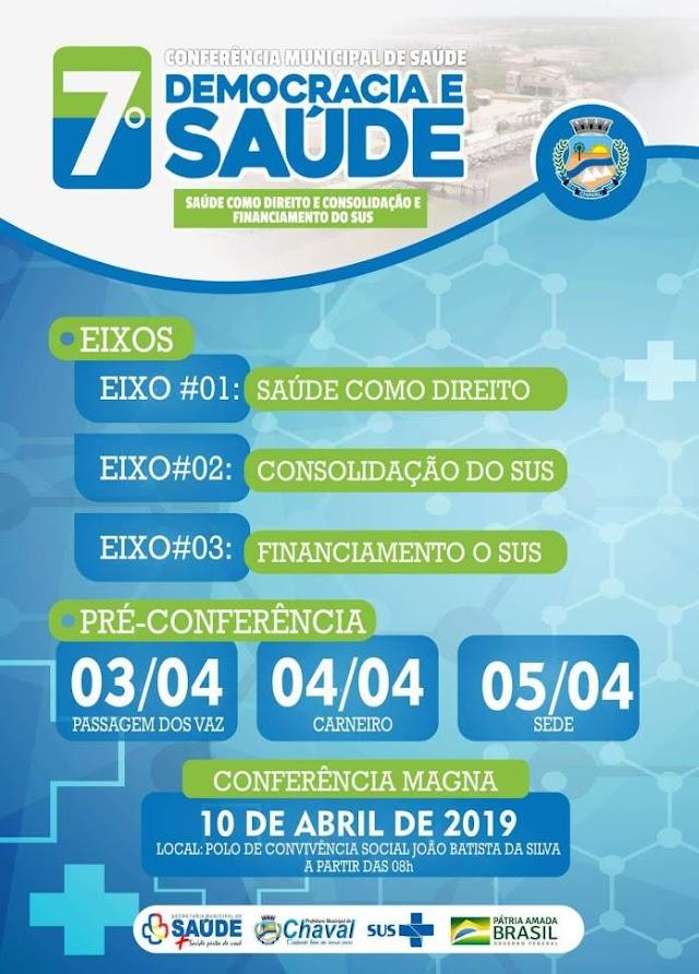 Prefeitura de Chaval realizará a 7° Conferência Municipal de Saúde