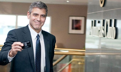 Up In The Air starring George Clooney, screenplay adapted by Jason Reitman and Sheldon Turner