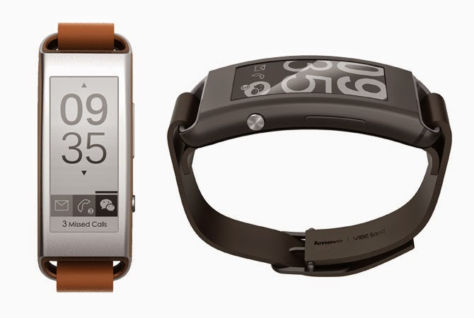 LENOVO announces Vibe Band VB10 smartband wearable with E Ink display