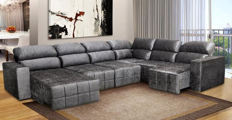 Sofas de canto em l for Sofa zeus retratil e reclinavel