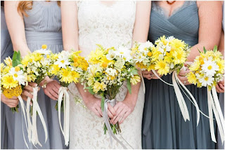 Yellow Daisy Bridesmaid Flower Bouquets