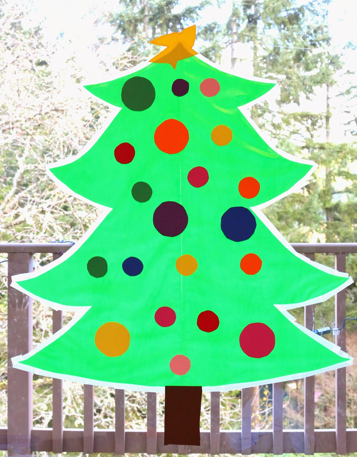 Sticky Kid Sized Christmas Tree With Reusable Ornaments   You Can Decorate  All Season Long