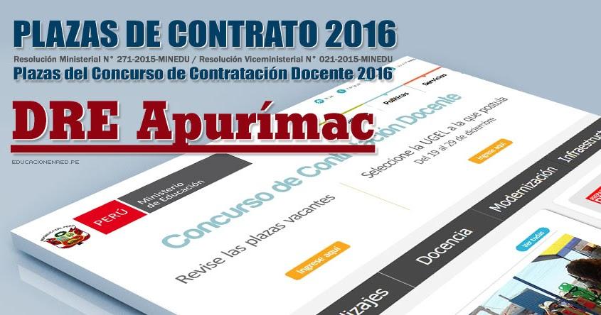 dre apur mac plazas vacantes contrato docente 2016 pdf