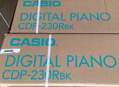 casio cdp 230 88 key digital piano costco weekender. Black Bedroom Furniture Sets. Home Design Ideas