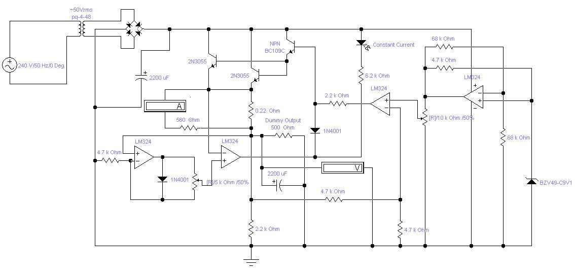 Adjustable Lab Power Supply