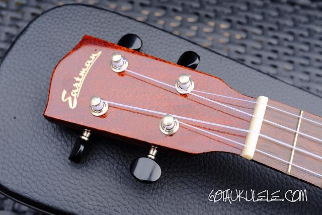 Eastman EU3S Soprano Ukulele headstock