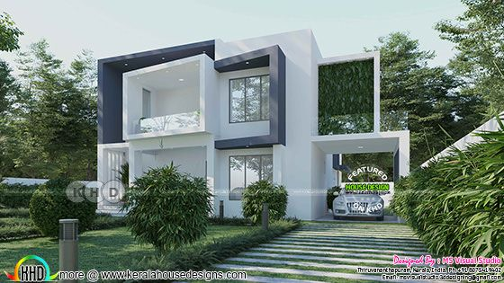 Box model ultra modern home 2600 square feet