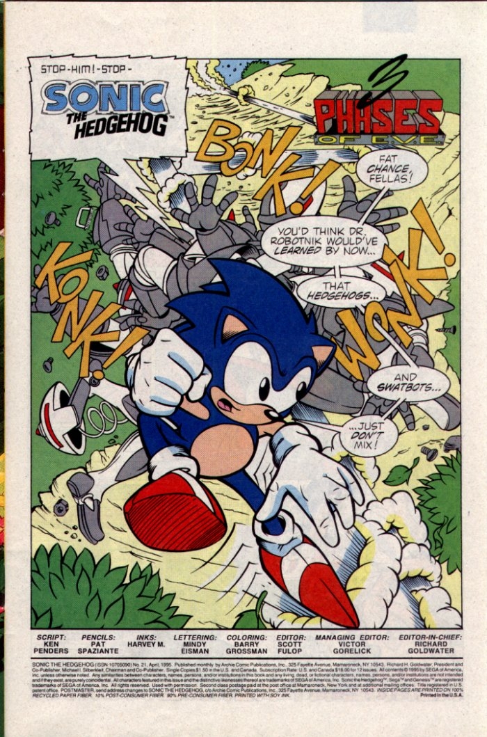 Read online Sonic The Hedgehog comic -  Issue #21 - 2