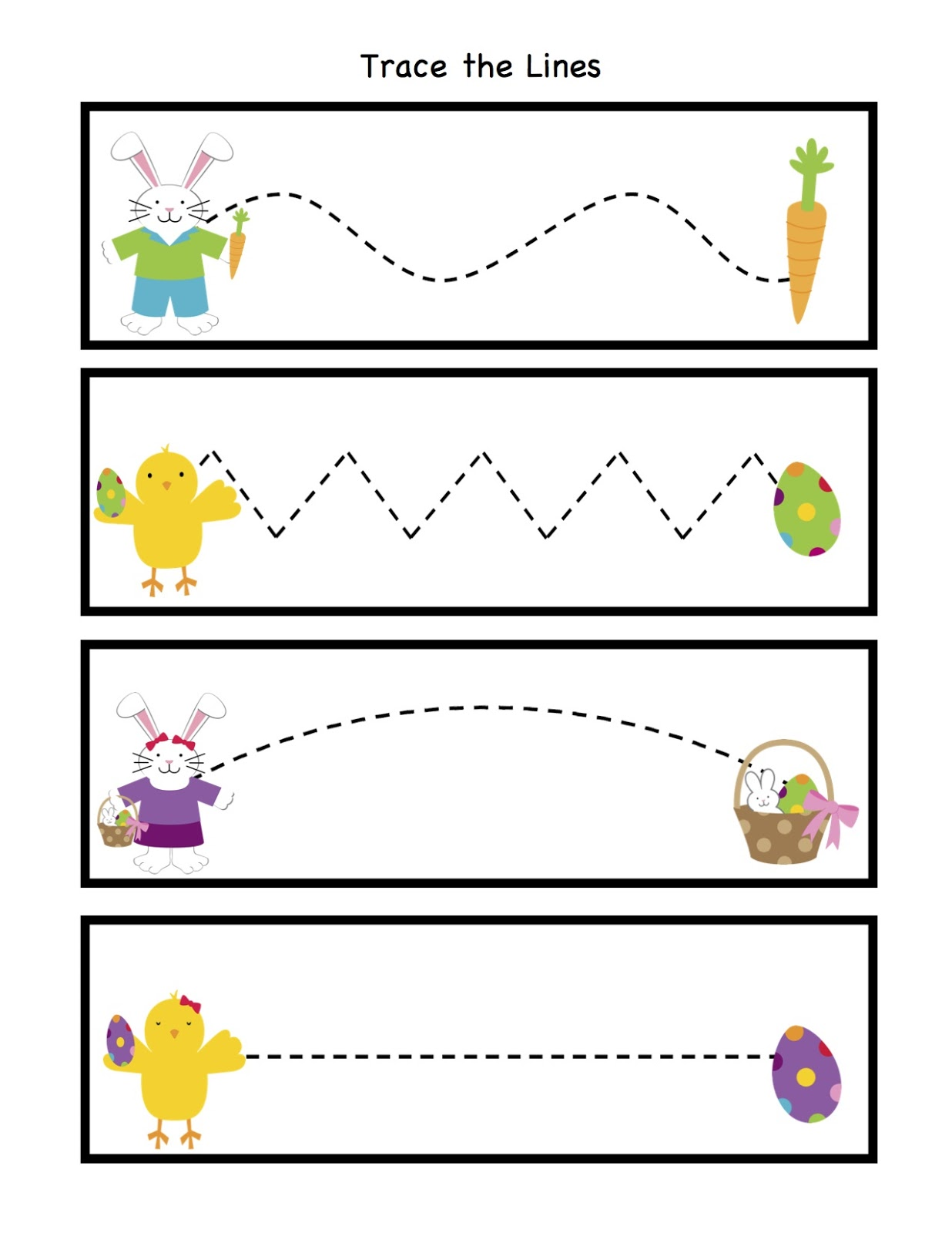Easter Tracing Sheets
