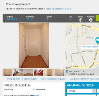 wohnungsbetrugblogspotcom Vorkassebetrger im gehackten MaklerAccount auf Immobilienscout24