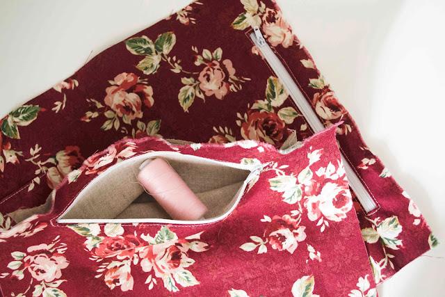 как сделать карман на молнии в сумке