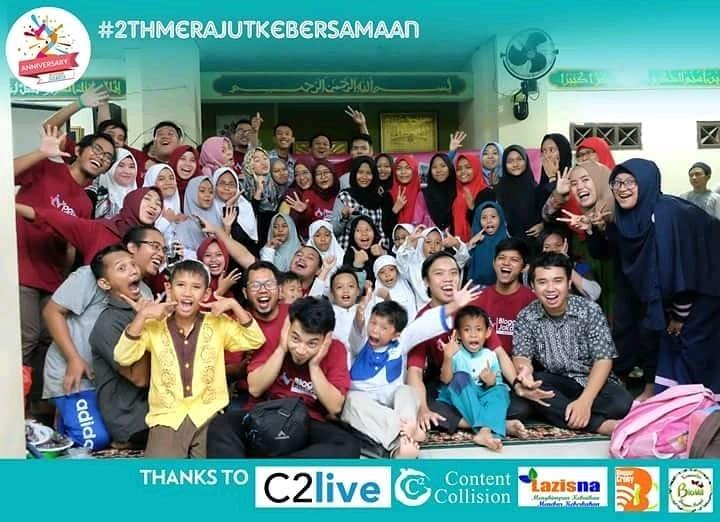Berbagi Kebahagiaan Dengan Adik-adik Kecil Dari Sekolah Ibnu Sina Di Ulang Tahun Ke-2 Komunitas Blogger Jakarta