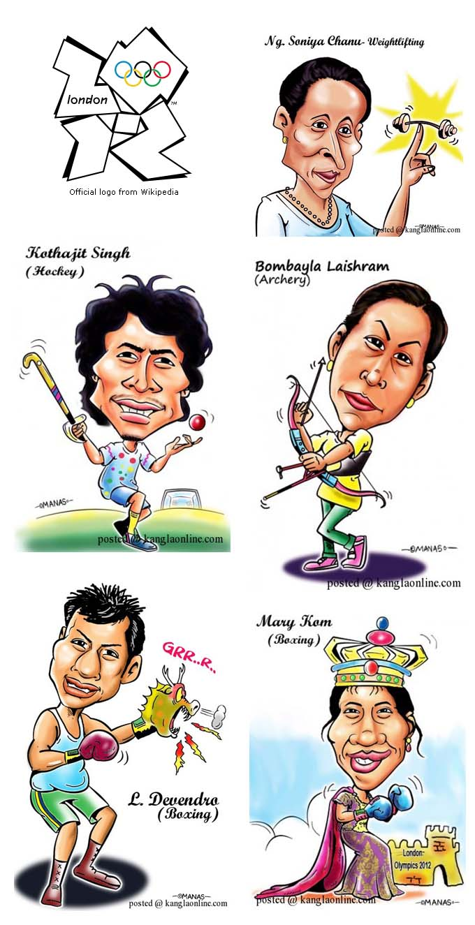 Manipuri Olympians for the London Olympics 2012