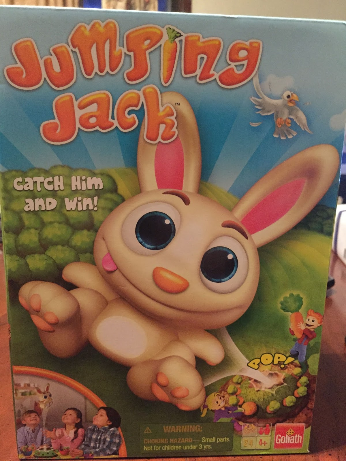 Marias space easter basket gift ideas video review easter jumping jack is a great game from goliath games which is perfect for ages 4 and can be played with 2 4 players negle Images
