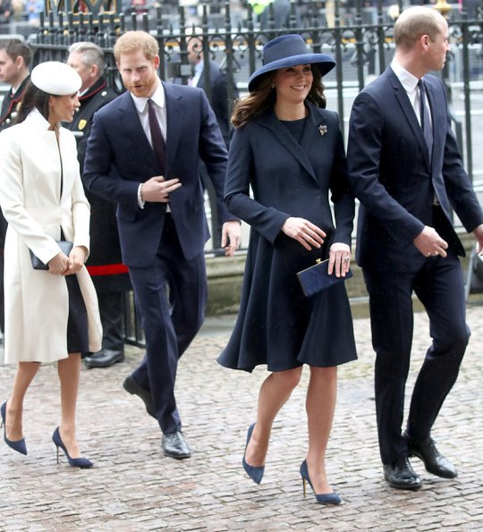 Queen Elizabeth II, Duchess Camilla, Prince William, Duchess Catherine, Prince Harry, Meghan Markle, Countess Sophie of Wessex, Princess Anne and Princess Alexandra