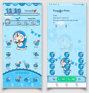 Doraemon Blue Tema Keren untuk Vivo 1