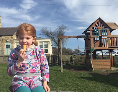 Fish & Chips Friday at Black Horse, Beamish - outdoor play area
