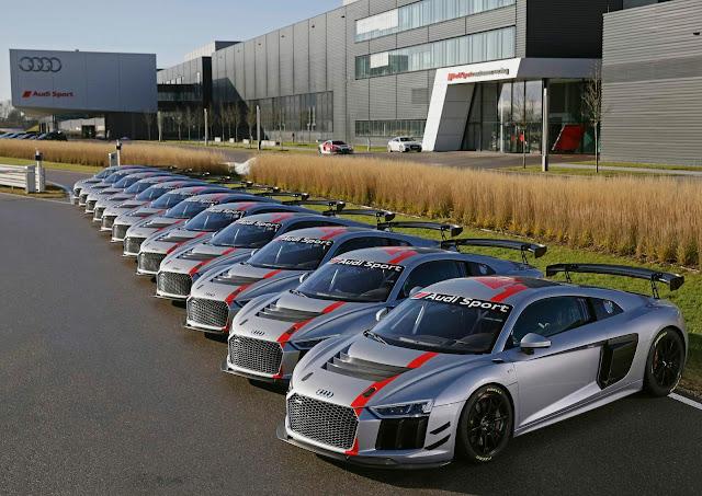 Audi já produziu 50 unidades do R8 LMS GT4