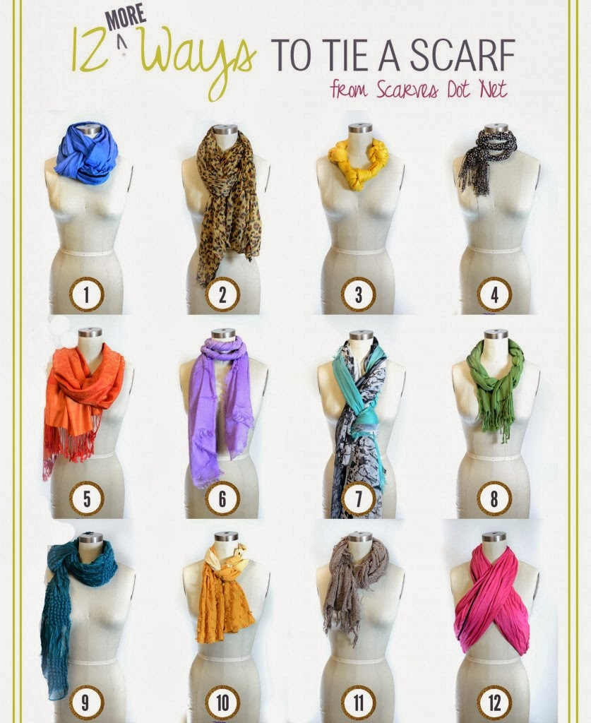 AFRO DIVAS: 12 Ways To Wear A Scarf