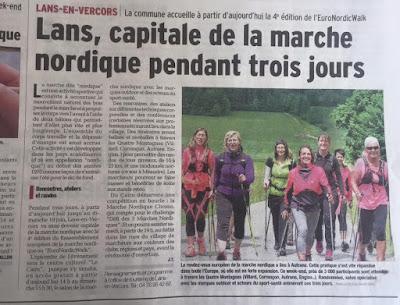 Article au Dauphiné Libéré le 17.6.2016