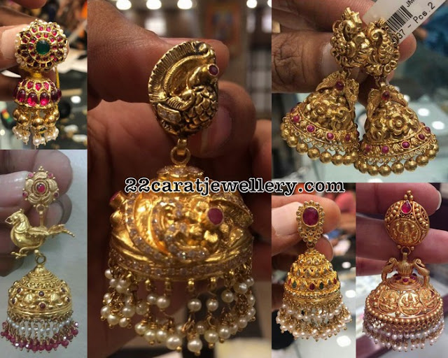 Antique Jhumkas 35 Grams Weight