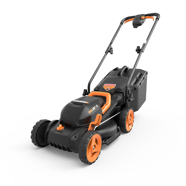 "WORX 2X20V,40V (4.0Ah) CORDLESS 14"" LAWN MOWER WITH MULCHING CAPABILITIES AND INTELLICUT GIVEAWAY"