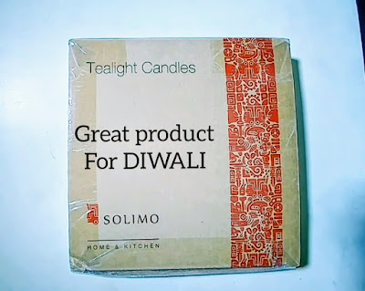Diwali Shopping - Solimo Wax Tealight Candles | Unboxing & Review