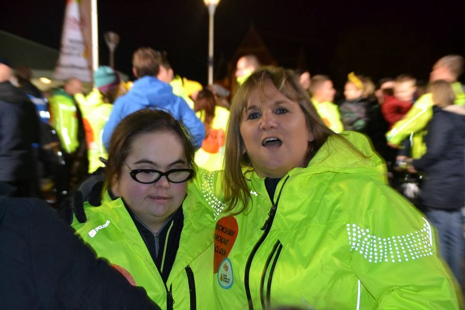 , Children in Need 2013- The Rickshaw Challenge:  Bethany & Amanda at Abergavenny