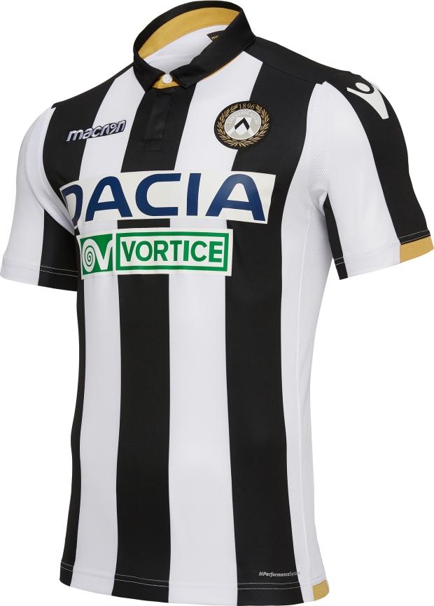 Macron apresenta as novas camisas da Udinese - Show de Camisas bc82639e20e12