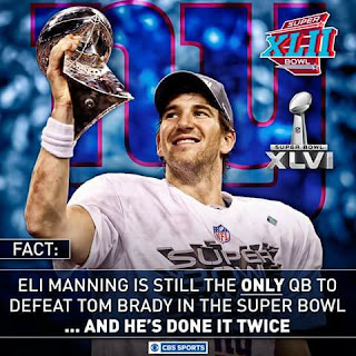 Eli manning is still the only qb to defeat Tom brady in the Super Bowl ... and he's done it twice