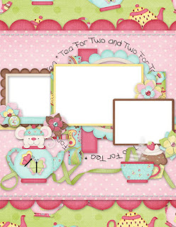 Frames from Tea and Cupcakes Clipart.