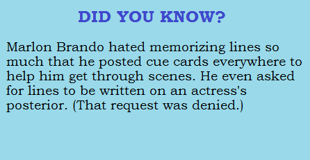 Marlon Brando's weird. www.checklistmag.com