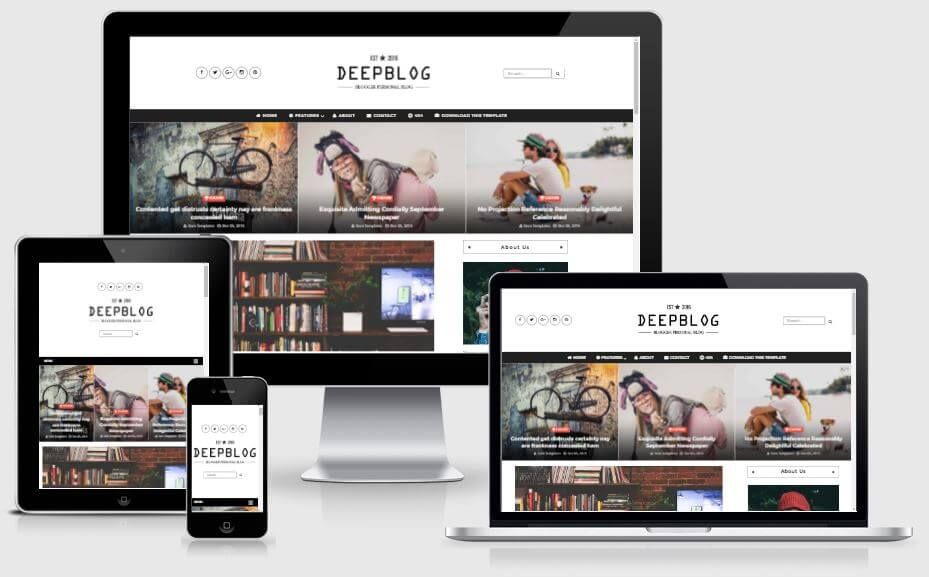 Deep Blog - Responsive Blogger Template