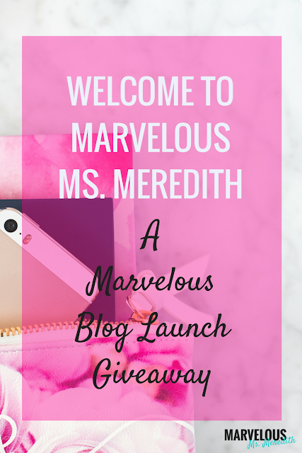A MARVELOUS BLOG LAUNCH GIVEAWAY