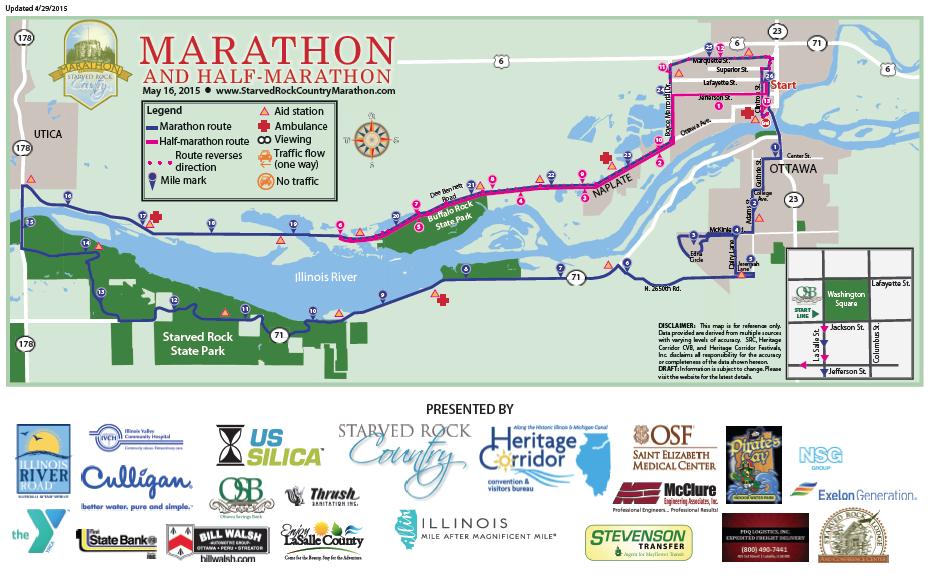 Big Sur Half Marathon Elevation Map.Starved Rock Country Marathon Q A With Race Director Matt Skelly