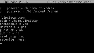 Cara install dan konfigurasi samba server di debian