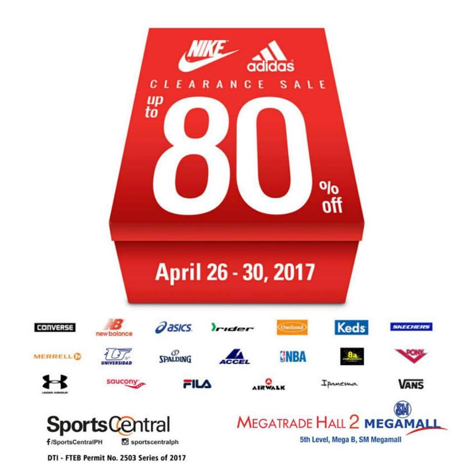 e24b7c78477 Mark your calendars for Sports Central s Clearance SALE happening on April  26-30